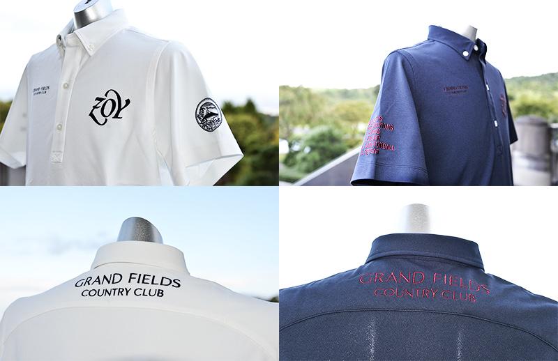 グランフィールズカントリークラブとZOYがコラボした オリジナルポロシャツが完成しました。